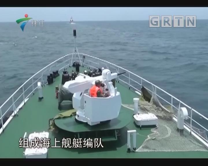 中国海警船在南海实弹射击训练