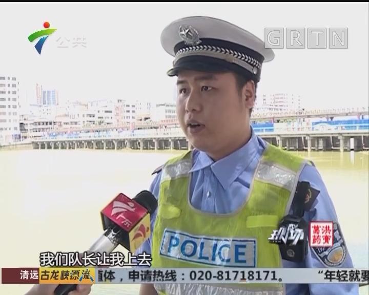 江门:交警查车时遭反抗 男子咬人后逃跑