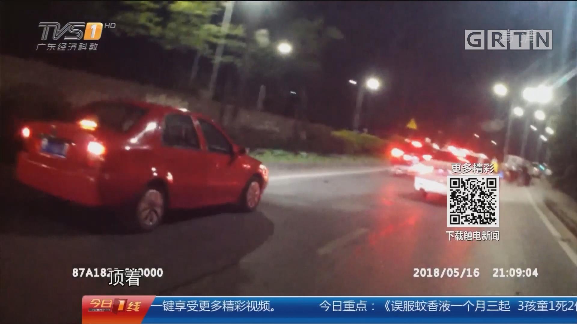 佛山南海:无证驾车疯狂作死 涉事司机被刑拘