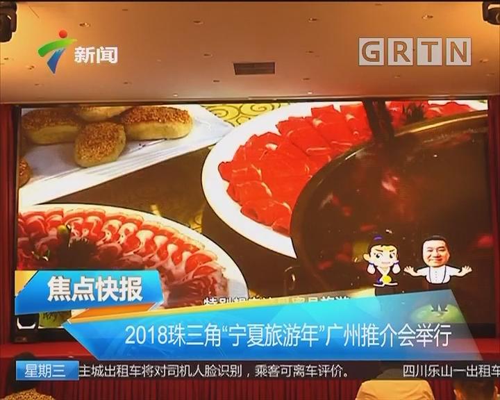 """2018珠三角""""宁夏旅游年""""广州推介会举行"""