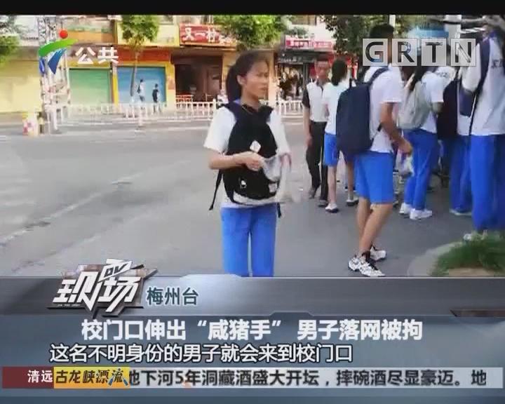 """梅州台:校门口伸出""""咸猪手"""" 男子落网被拘"""