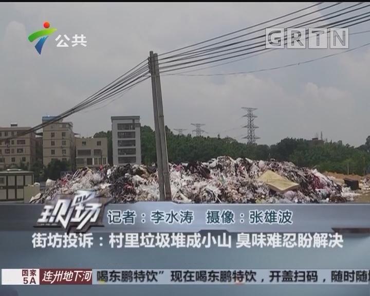 街坊投诉:村里垃圾堆成小山 臭味难忍盼解决