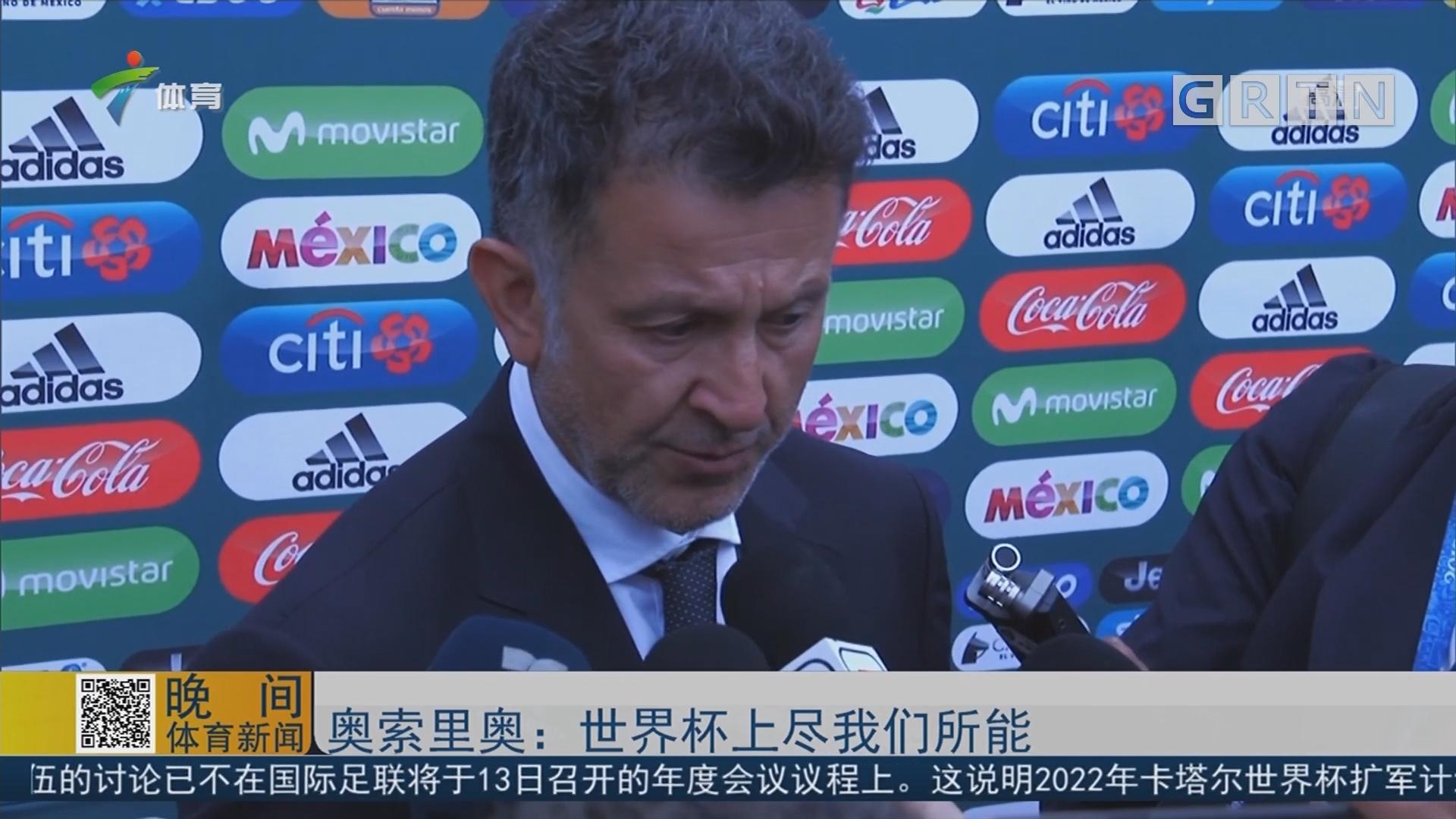 奥索里奥:世界杯上尽我们所能