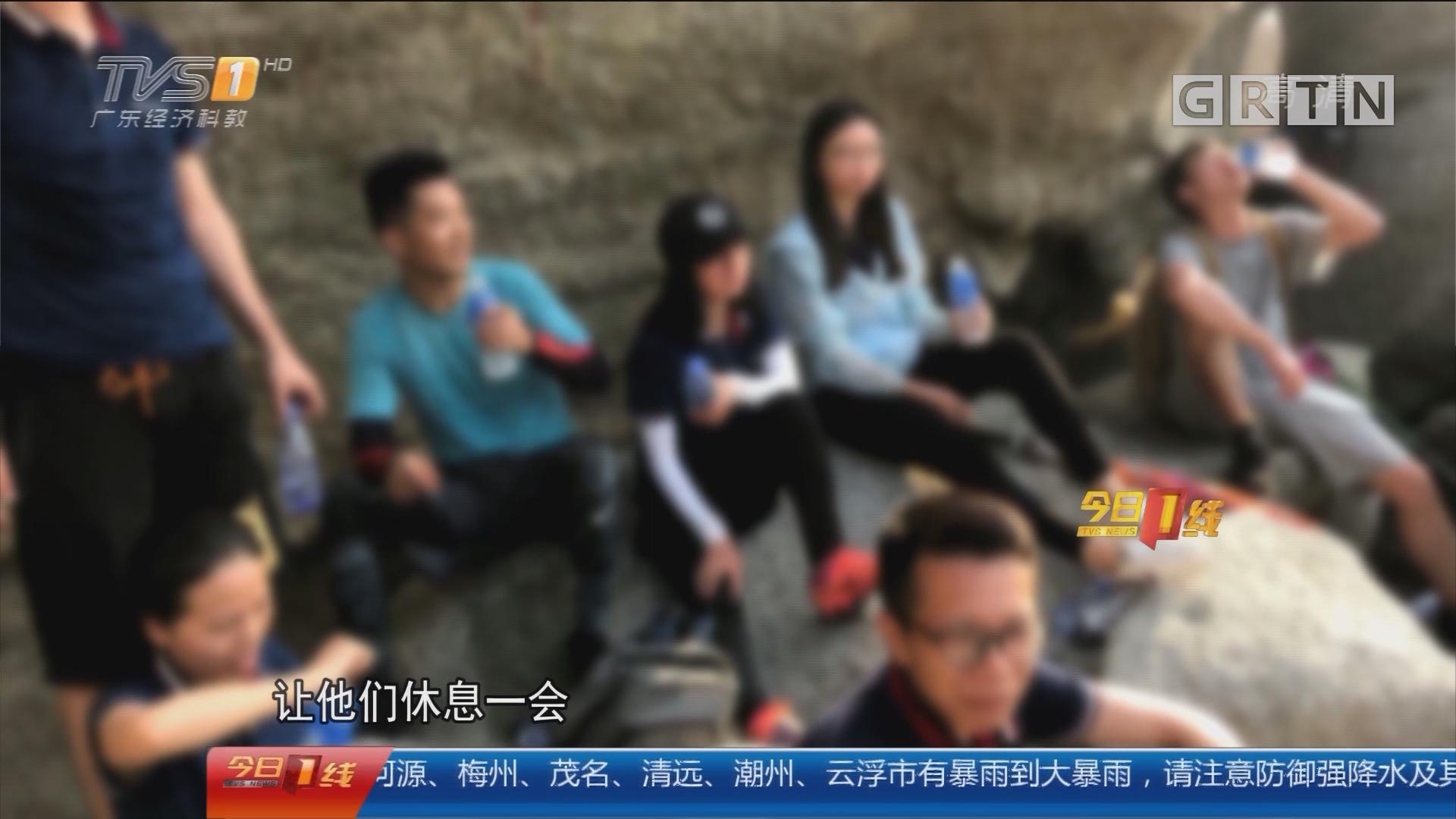 """深圳:15名驴友徒步中暑 消防""""海陆空""""救援"""