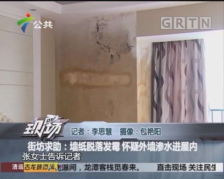 街坊求助:墙纸脱落发霉 怀疑外墙渗水进屋内