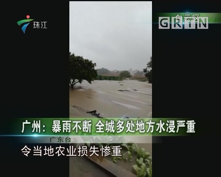 广州:暴雨不断 全城多处地方水浸严重