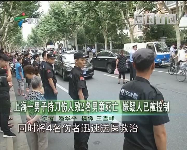 上海一男子持刀伤人致2名男童死亡 嫌疑人已被控制