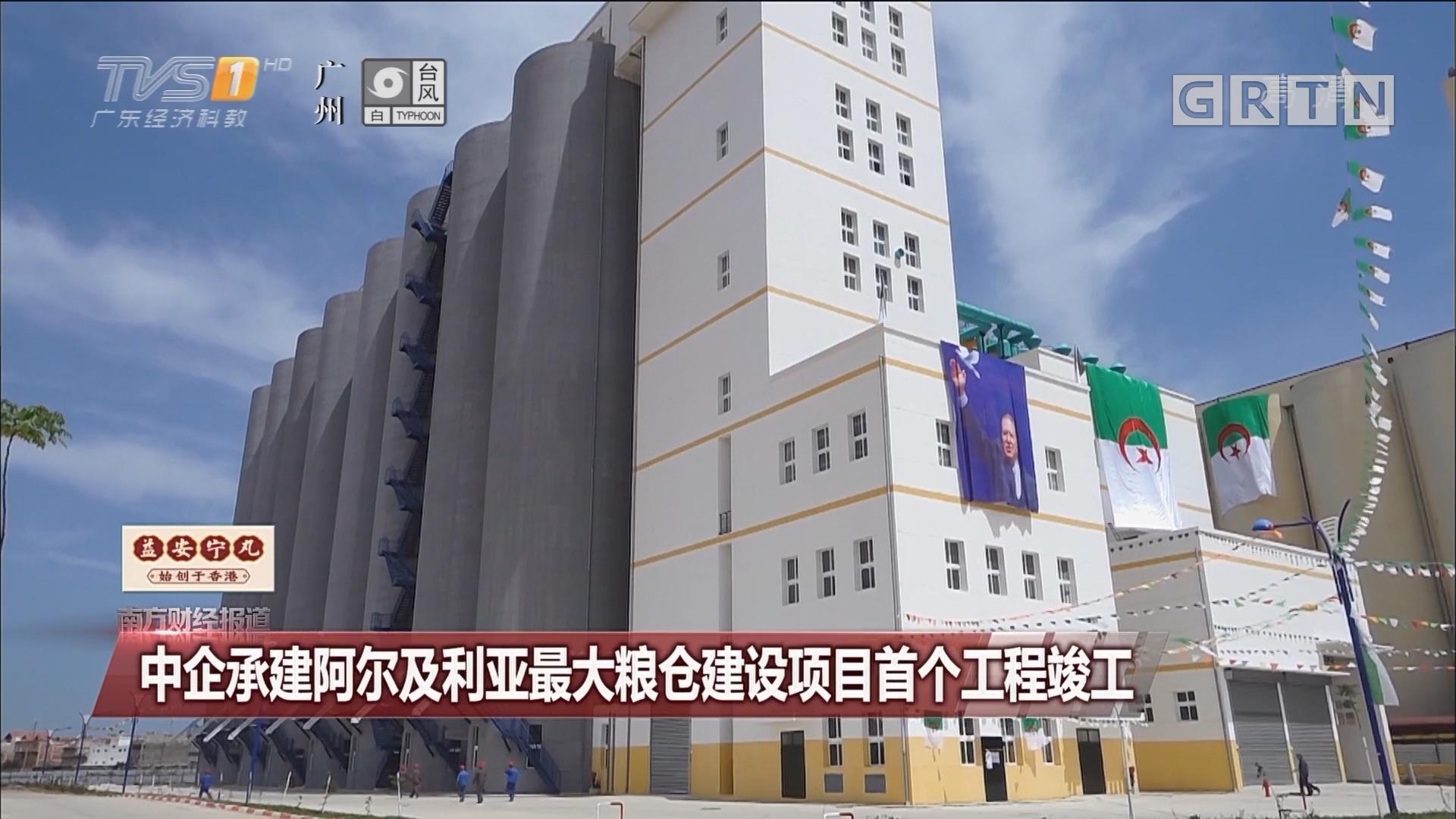 中企承建阿尔及利亚最大粮仓建设项目首个工程竣工