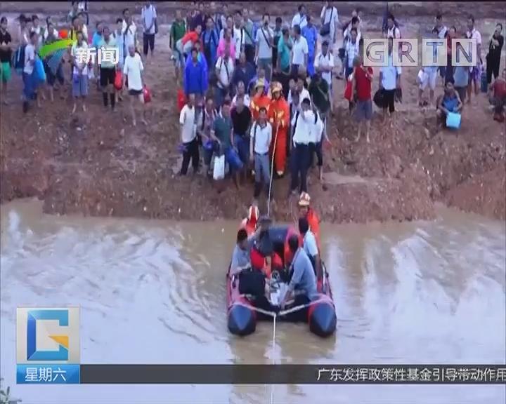 """灾后救助 惠阳:洪水围困上百群众 消防展开""""孤岛""""救援"""
