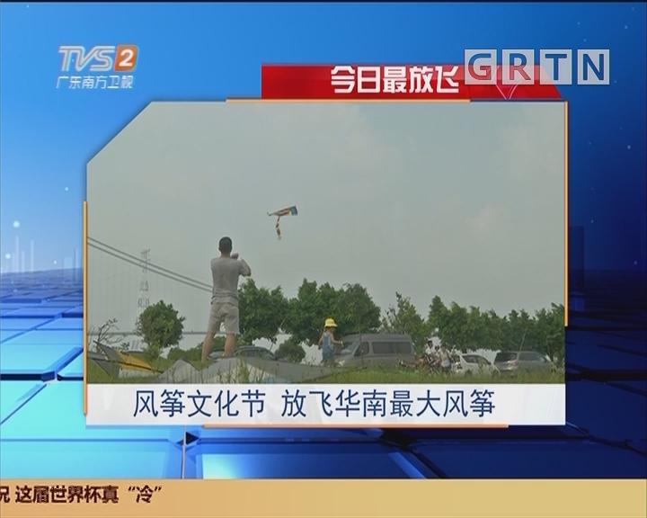 今日最放飞:风筝文化节 放飞华南最大风筝