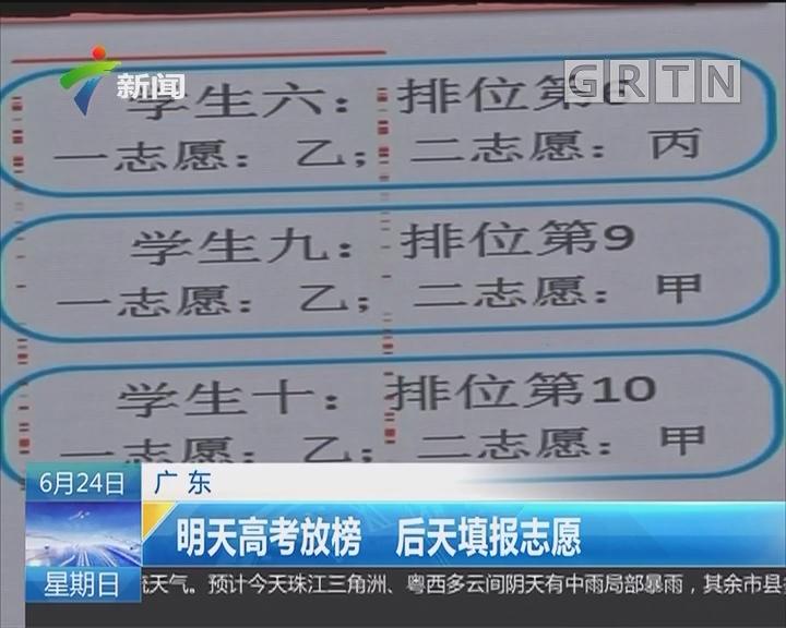 广东:明天高考放榜 后天填报志愿