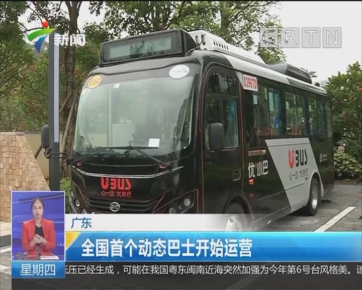 广东:全国首个动态巴士开始运营