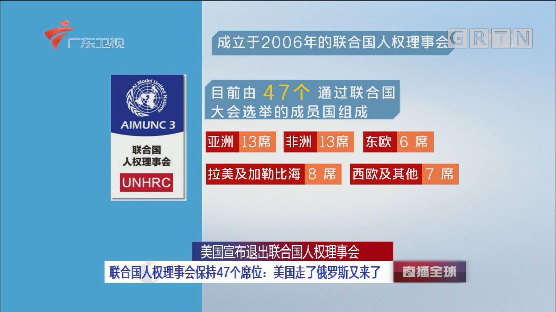 """美国宣布退出联合国人权理事会:人权理事会存在""""政治偏见""""""""无法有效保护人权"""""""