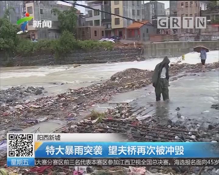 阳西新墟:特大暴雨突袭 望夫桥再次被冲毁