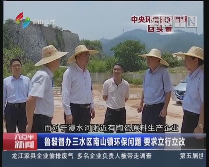佛山:鲁毅督办三水区南山镇环保问题 要求立行立改