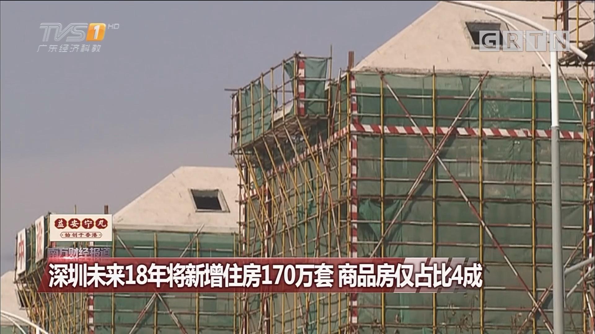 深圳未来18年将新增住房170万套 商品房仅占比4成