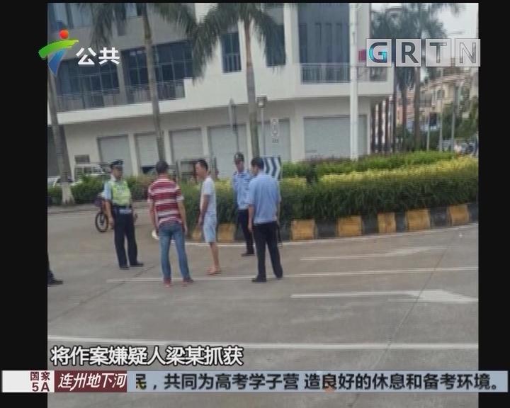 佛山:持刀当街伤害女子 男子驾车逃离被刑拘