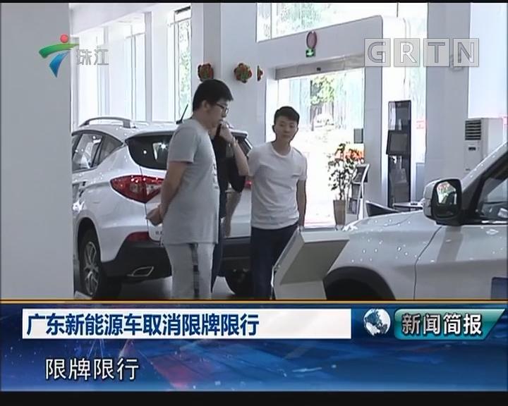 广东新能源取消限牌限行
