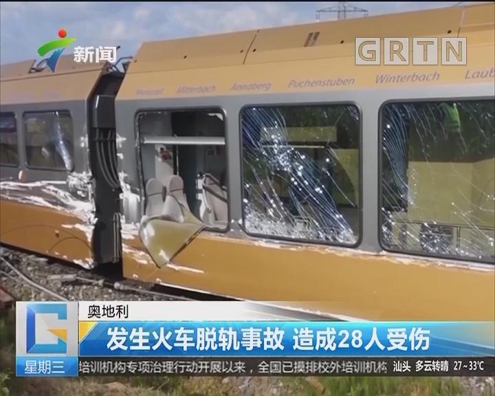 奥地利:发生火车脱轨事故 造成28人受伤