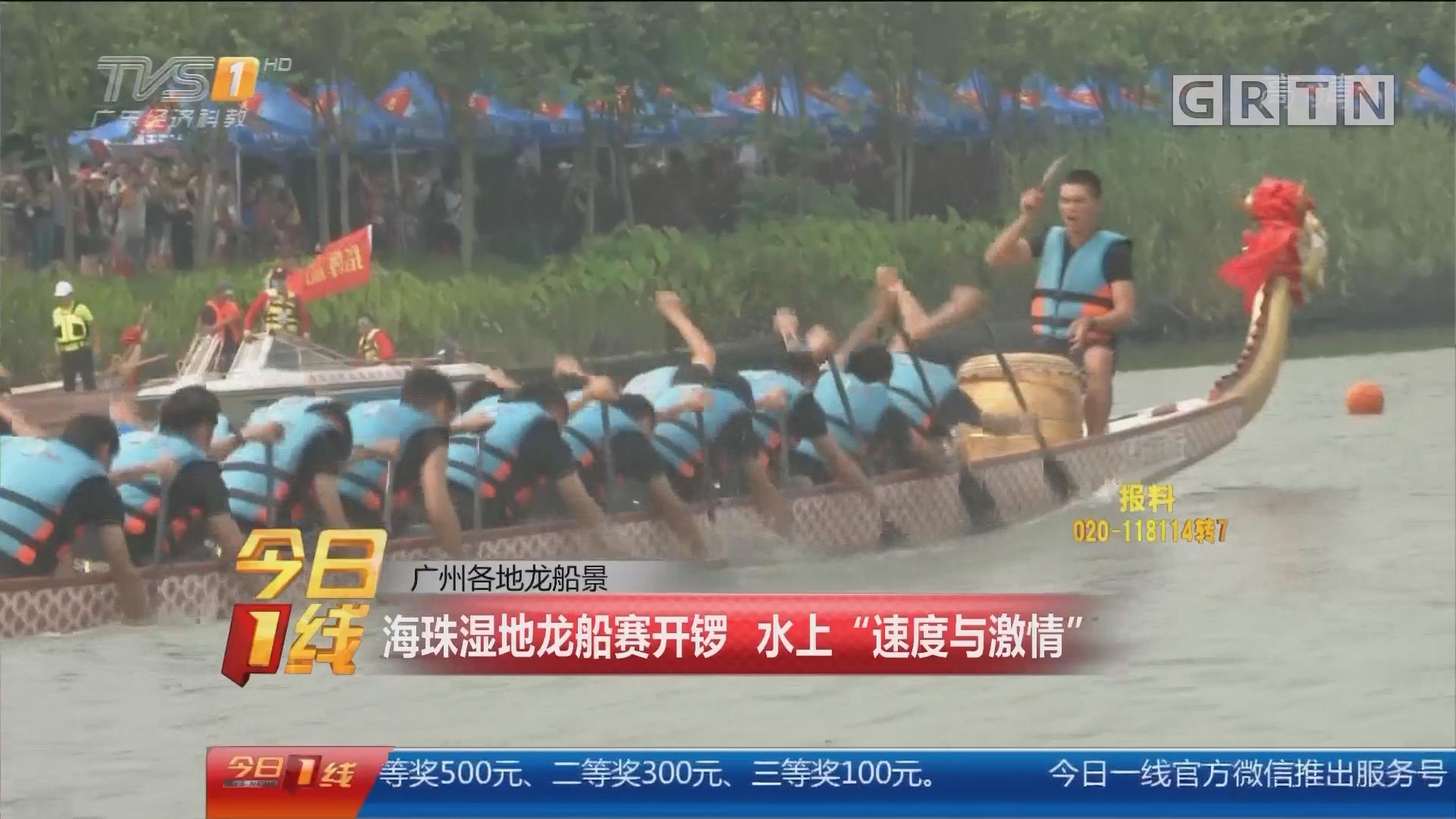 """广州各地龙船景:海珠湿地龙船赛开锣 水上""""速度与激情"""""""