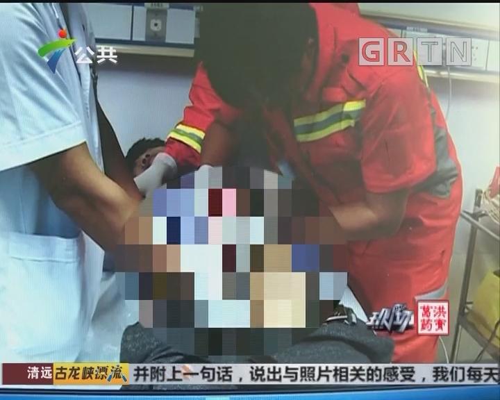 东莞:男子下体被卡 医院消防合力施救