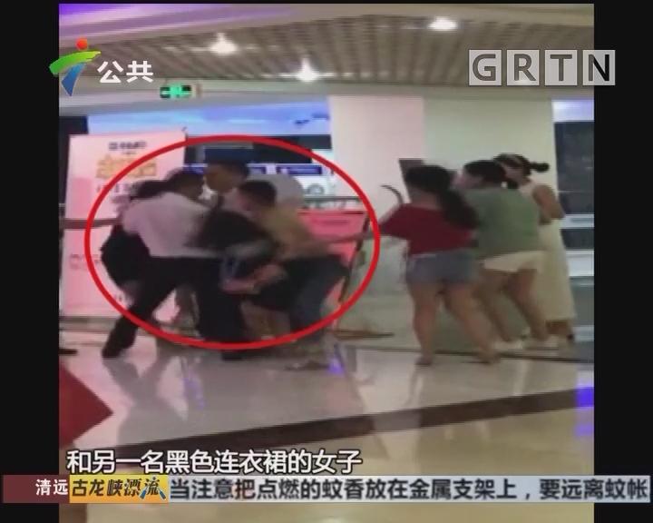 佛山:商场内突发争执 两女子发生肢体冲突