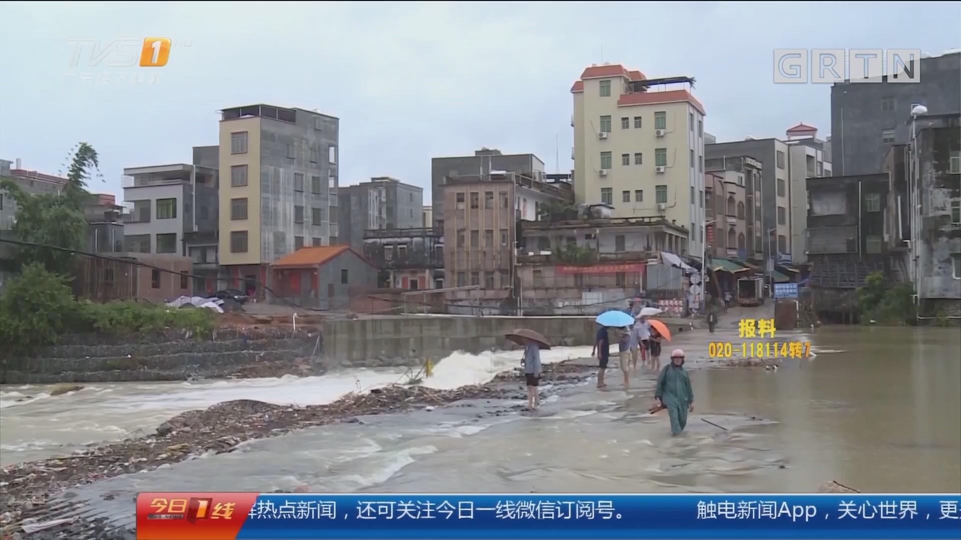 关注台风暴雨天气:阳江阳西 17个气象站录得7级大风 山体大滑坡