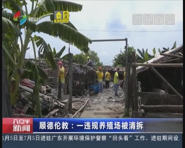 佛山:顺德伦教:一违规养殖场被清拆