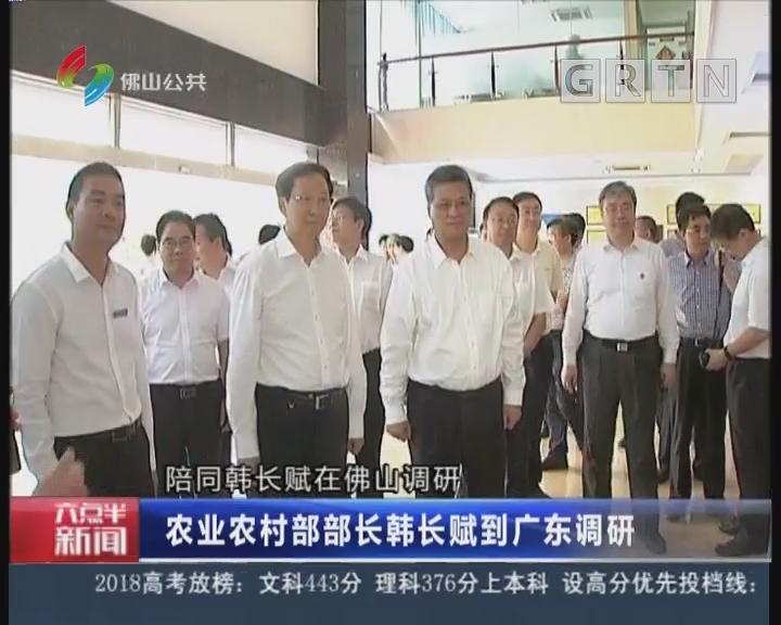[2018-06-25]六点半新闻:农业农村部部长韩长赋到广东调研