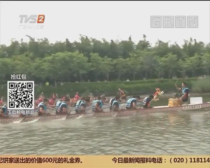 """广州各地龙船景:水上版""""速度与激情"""" 海珠湿地龙船赛开锣"""