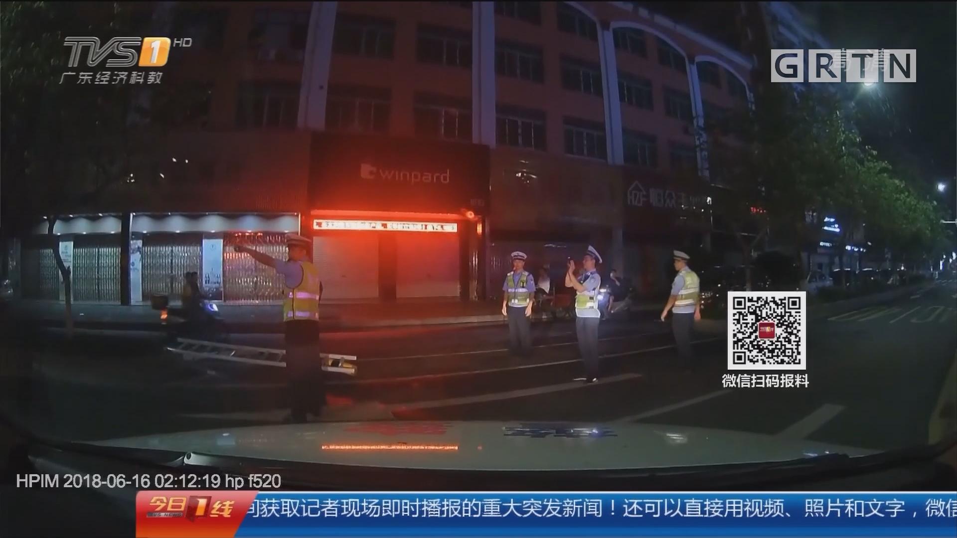 交通安全:揭阳榕城 男子遇查车逃逸 撞车后被抓
