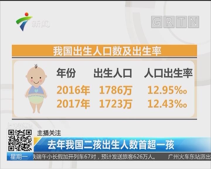 去年我国二孩出生人数首超一孩