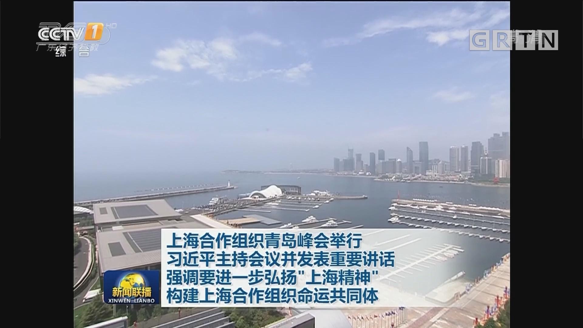 """上海合作组织青岛峰会举行 习近平主持会议并发表重要讲话 强调要进一步弘扬""""上海精神""""构建上海合作组织命运共同体"""