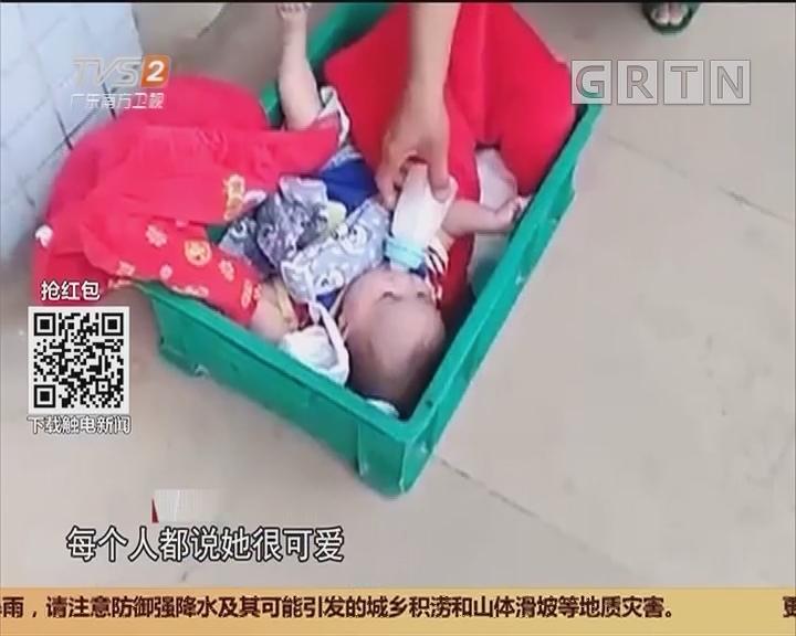 清远佛冈:女婴清晨被弃路边 热心人接力救援
