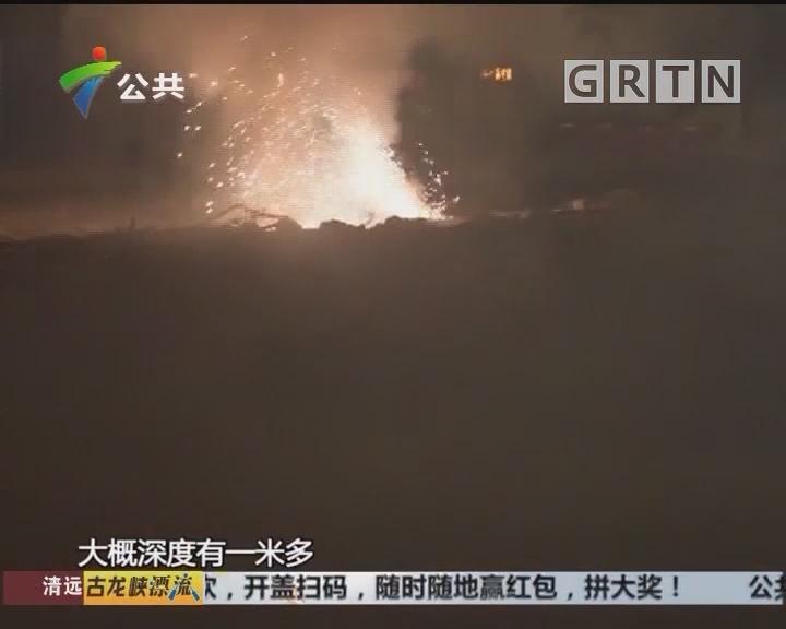 江门:工地电缆漏电 伴有火花