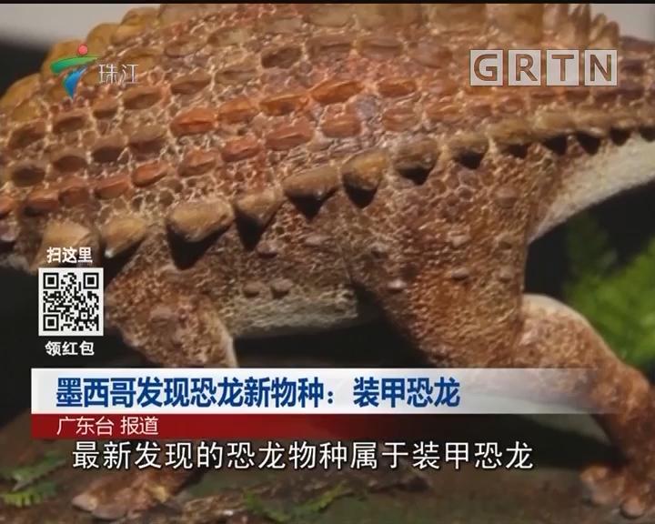 墨西哥发现恐龙新物种:装甲恐龙