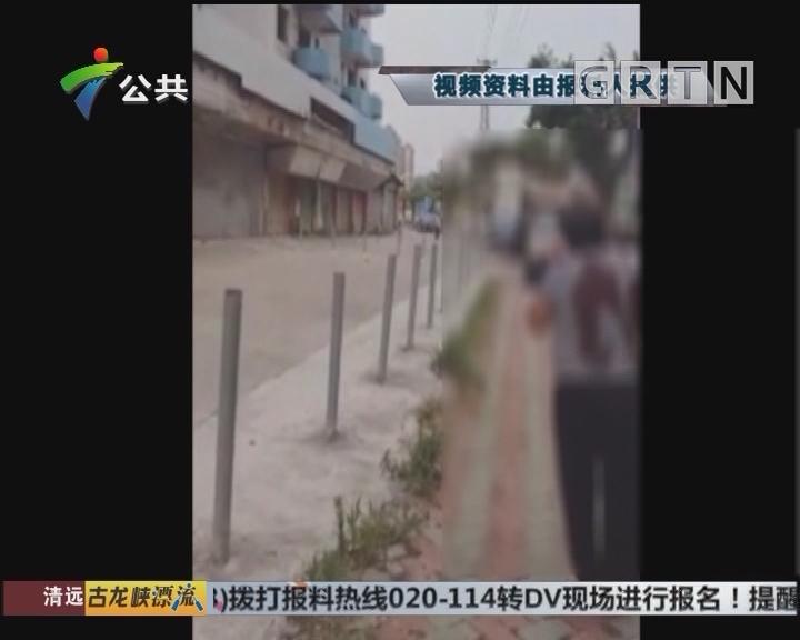 东莞:男子持刀伤人 民警迅速抓捕