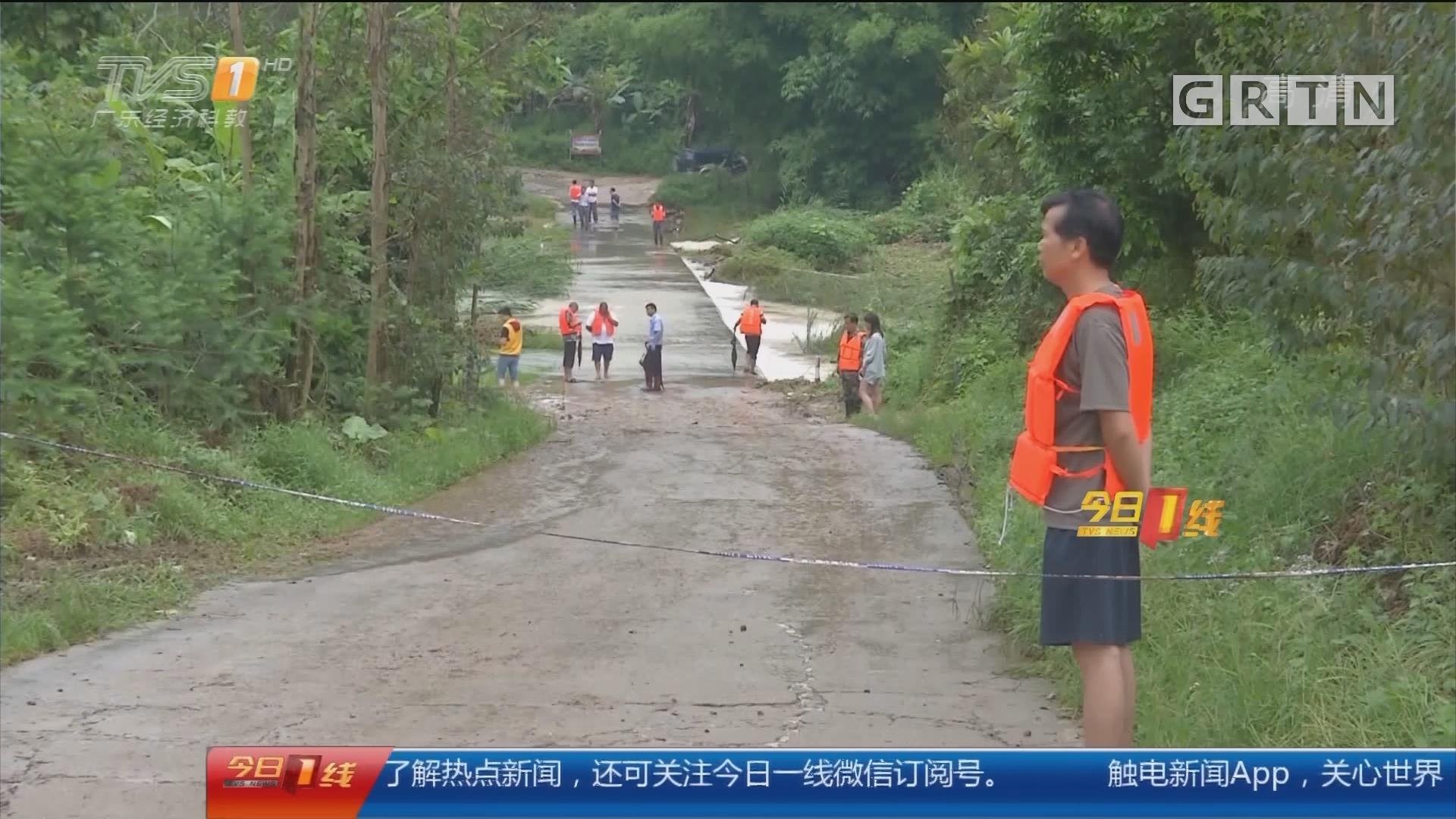 惠州龙门县:一家四口被洪水冲走 众人急流中救人