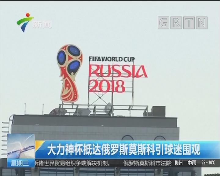 大力神杯抵达俄罗斯莫斯科引球迷围观