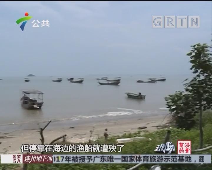 """阳江:海面突现""""龙吸水"""" 水天相接令人惊叹"""