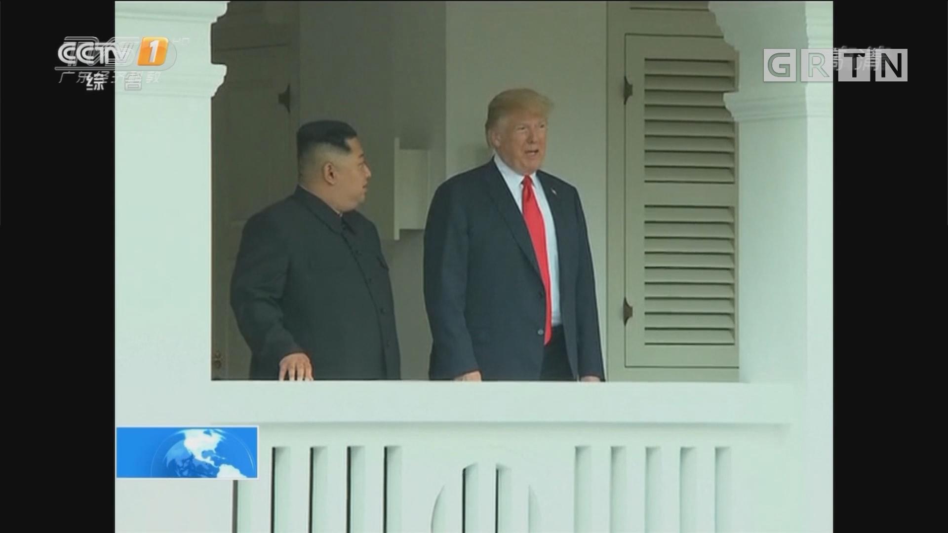 朝美领导人会晤在新加坡举行