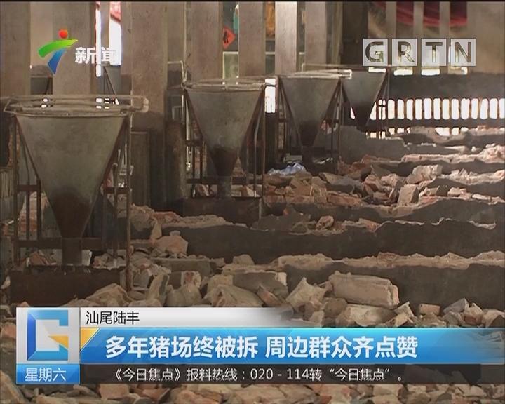 汕尾陆丰:多年猪场终被拆 周边群众齐点赞