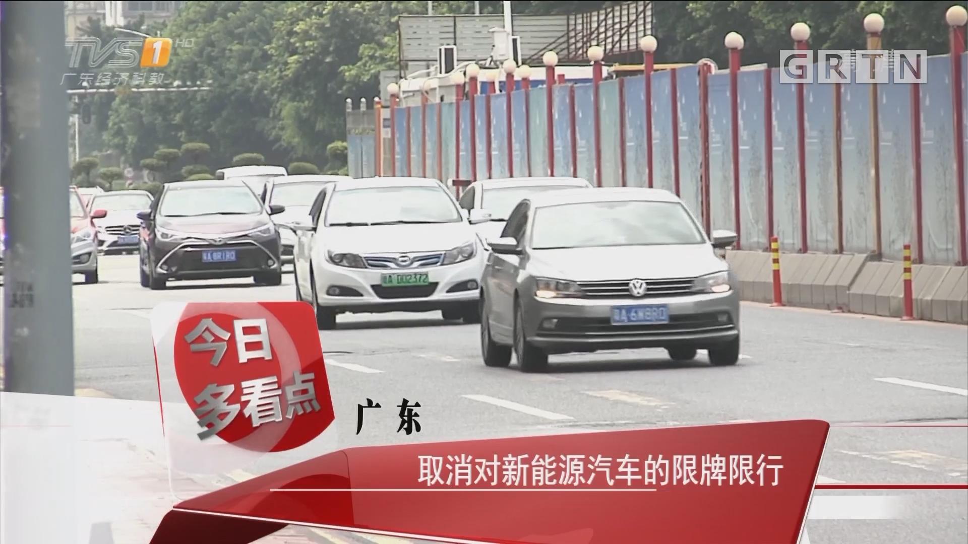 广东:取消对新能源汽车的限牌限行