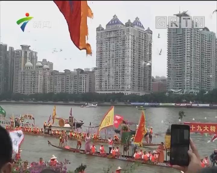 广州国际龙舟赛:龙腾珠江展风采 百舸竟渡耀广州