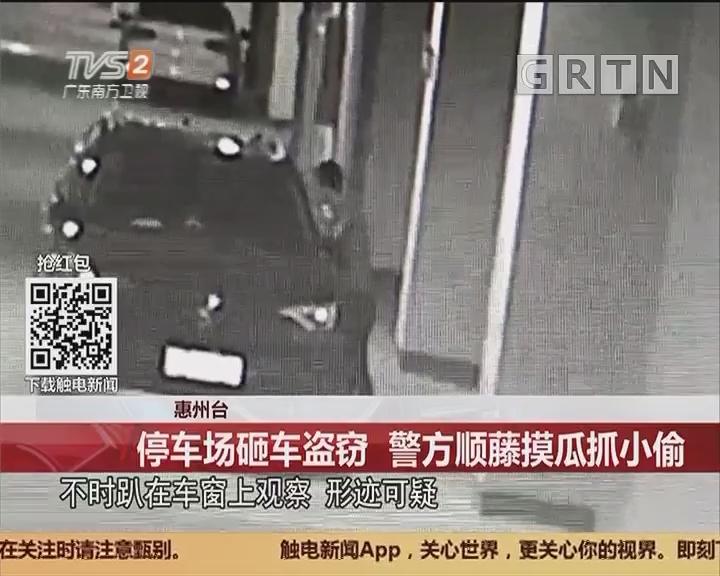 惠州:停车场砸车盗窃 警方顺藤摸瓜抓小偷