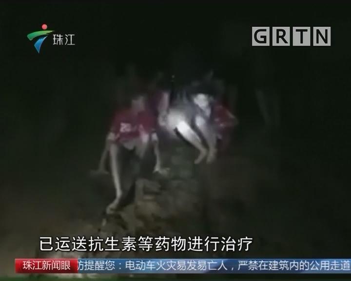 被困溶洞的泰国少年通过镜头报平安