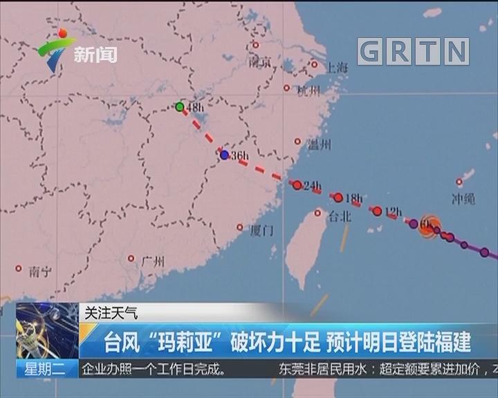 """台风""""玛莉亚""""破坏力十足 预计明日登陆福建"""