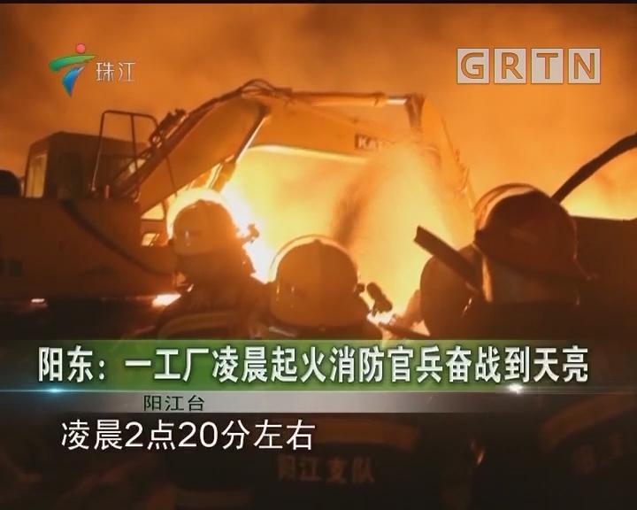 阳东:一工厂凌晨起火消防官兵奋战到天亮