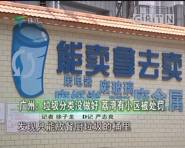 广州:垃圾分类没做好 荔湾有小区被处罚