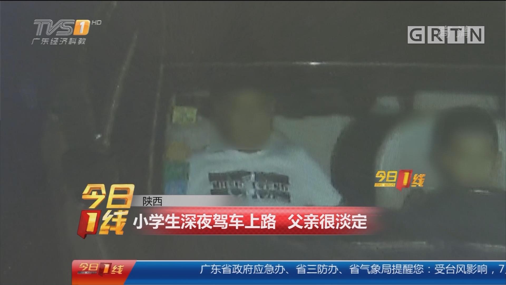 陕西:小学生深夜驾车上路 父亲很淡定